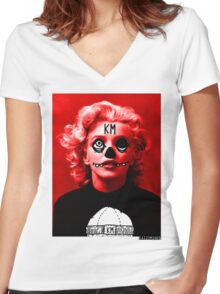 """Kaizo Minds - """"Norma Jean"""" Women's Fitted V-Neck T-Shirt"""
