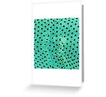 Polka mint Greeting Card