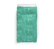 Polka mint Duvet Cover