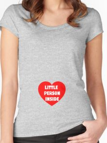 Little Person Inside #2 (for the bigger bump) Women's Fitted Scoop T-Shirt