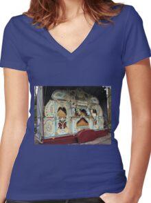 The Keukenhof Organ - Tulips from Amsterdam Women's Fitted V-Neck T-Shirt