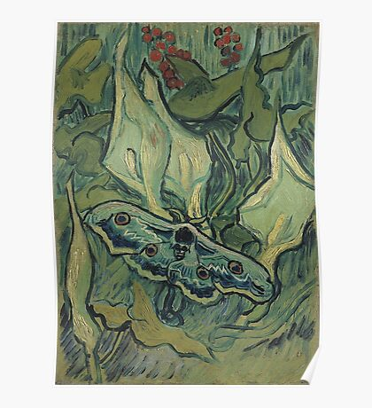 Vincent Van Gogh - Giant Peacock Moth, 1889 Poster