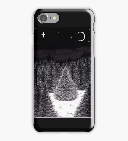 Pen and Ink Forest Scene iPhone Case/Skin