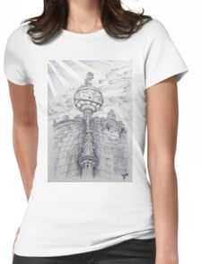 O Universo nos Jerónimos. The Universe on top of the bell tower. Womens Fitted T-Shirt