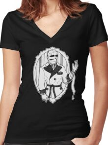 The Invisible Man Women's Fitted V-Neck T-Shirt