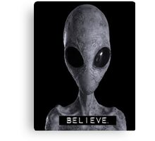 I want to Believe Alien Canvas Print
