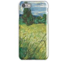 Vincent Van Gogh - Green Field, 1889 iPhone Case/Skin