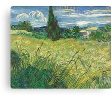 Vincent Van Gogh - Green Field, 1889 Canvas Print