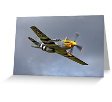 North American P-51D Mustang 'Ferocious Frankie' Greeting Card