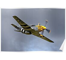 North American P-51D Mustang 'Ferocious Frankie' Poster