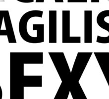 SUPERCALISWAGILISTICSEXYHELLADOPENESS! Sticker