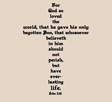 JOHN 3:16 cross Womens Fitted T-Shirt