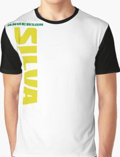 Anderson Silva Yellow & Green - Front Graphic T-Shirt
