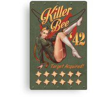 Killer Bee Pin Up Canvas Print