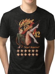 Killer Bee Pin Up Tri-blend T-Shirt