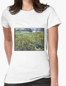 Vincent Van Gogh - House at Auvers, 1890 Womens Fitted T-Shirt