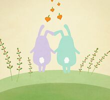 Cute Bunnies  by Cristina Bianco Design