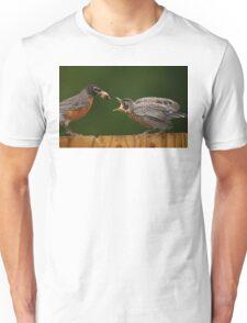 Robin Getting Fed Unisex T-Shirt