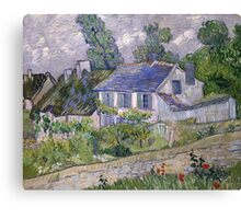 Vincent Van Gogh - Houses at Auvers, December 1885 - February 1886 Canvas Print