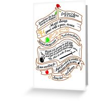 OUAT quotes. Greeting Card