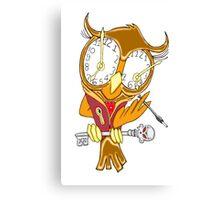 Whimsical Steampunk Owl Canvas Print