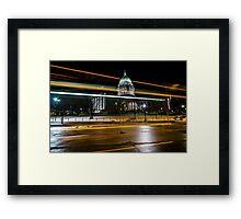 Capital streaks Framed Print