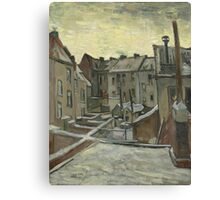 Vincent Van Gogh - Houses seen from the back, December 1885 - February 1886 Canvas Print
