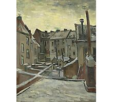 Vincent Van Gogh - Houses seen from the back, December 1885 - February 1886 Photographic Print