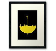 How I Met Your Mother // Minimalist Umbrella Framed Print