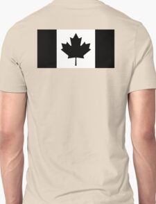 "CANADA, CANADIAN, Canadian Flag, National Flag of Canada, Funeral, Mourning,  ""A Mari Usque Ad Mare"" Pure & Simple in BLACK,  T-Shirt"