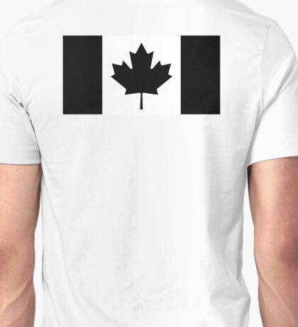 CANADA, CANADIAN, Canadian Flag, National Flag of Canada, Funeral, Mourning, A Mari Usque Ad Mare, Pure & Simple, in BLACK,  Unisex T-Shirt