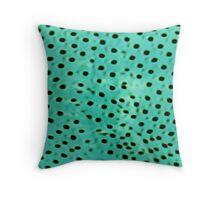 Polka mint Throw Pillow