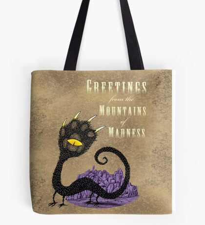 Haunted Greetings from the Mountains of Madness Tote Bag