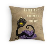 Haunted Greetings from the Mountains of Madness Throw Pillow