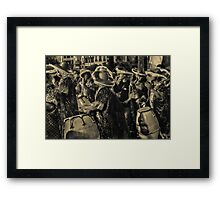Group of Candombe Drummers at Carnival Parade of Uruguay Framed Print