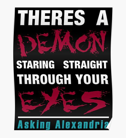 Asking Alexandria The Black Poster