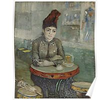 Vincent Van Gogh - In the café Agostina Segatori in Le Tambourin, January 1887 - March 1887 Poster