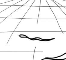 """Snakes on an Infinite Plane"" HAHAHA! Sticker"
