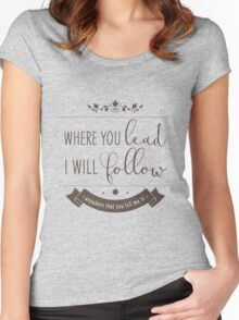 if you're out on the road Women's Fitted Scoop T-Shirt