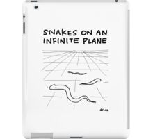 """Snakes on an Infinite Plane"" HAHAHA! iPad Case/Skin"