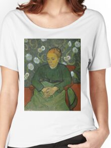Vincent Van Gogh - La berceuse, Portrait of Madame Roulin, December 1888 - January 1889 Women's Relaxed Fit T-Shirt