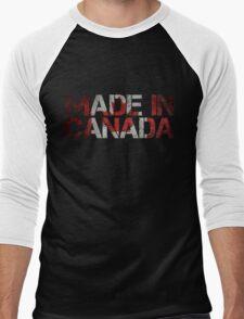 Canada Canadian Flag Men's Baseball ¾ T-Shirt