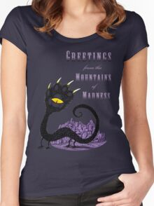 Haunted Greetings from the Mountains of Madness Women's Fitted Scoop T-Shirt