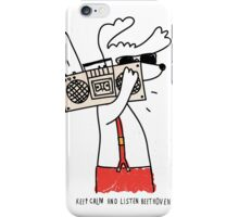 hipster music dog iPhone Case/Skin