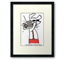 hipster music dog Framed Print