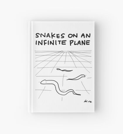 """Snakes on an Infinite Plane"" HAHAHA! Hardcover Journal"