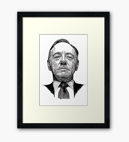 Frank Underwood Framed Print