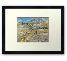 Vincent Van Gogh - Landscape at Saint-Rémy, Enclosed Field with Peasant 1889 Framed Print