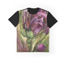 Wild Garden Tulips Graphic T-Shirt