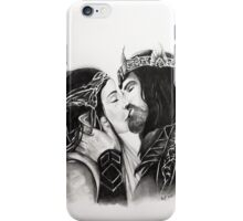 Arwen and Aragorn -True Loves Kiss iPhone Case/Skin